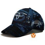 Аксессуары handmade. Livemaster - original item Summer baseball cap with Toyota Blue print. Handmade.