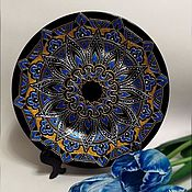 Посуда ручной работы. Ярмарка Мастеров - ручная работа Тарелка декоративная #5. Роспись.. Handmade.