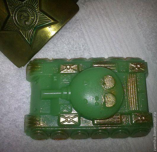 Мыло ручной работы. Ярмарка Мастеров - ручная работа. Купить Танк. Handmade. Зеленый, сувенирное мыло, танк