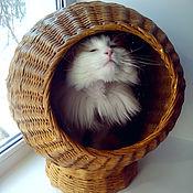 Для домашних животных, ручной работы. Ярмарка Мастеров - ручная работа Домик для кошки Космос. Handmade.