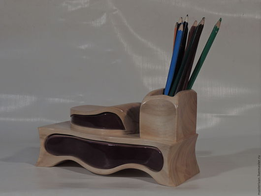 Карандашницы ручной работы. Ярмарка Мастеров - ручная работа. Купить Карандашница. Handmade. Желтый, красивый подарок, дерево