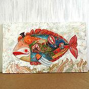 """Картины и панно ручной работы. Ярмарка Мастеров - ручная работа """"Рыба клоун"""". Handmade."""