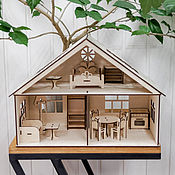 Кукольные домики ручной работы. Ярмарка Мастеров - ручная работа Кукольный домик с мебелью. Handmade.