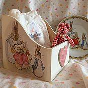 Подарки ручной работы. Ярмарка Мастеров - ручная работа Подставка для памперсов Кролики Беатрис Поттер+грызунок. Handmade.