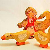 Куклы и игрушки ручной работы. Ярмарка Мастеров - ручная работа Гуси у бабуси ). Handmade.