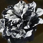 Украшения handmade. Livemaster - original item Brooch-flower suede