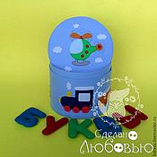 """Куклы и игрушки ручной работы. Ярмарка Мастеров - ручная работа Алфавит из фетра в шкатулке """"Любимые игрушки"""". Handmade."""