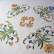 Машинная вышивка на скатерть дизайны бесплатно