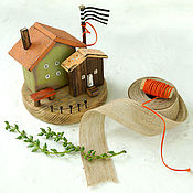 Для дома и интерьера handmade. Livemaster - original item Wooden domite of derevaun in podarochnyi d. Handmade.