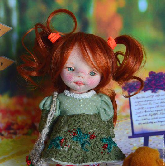 Коллекционные куклы ручной работы. Ярмарка Мастеров - ручная работа. Купить Вера. Handmade. Оранжевый, коллекционная кукла
