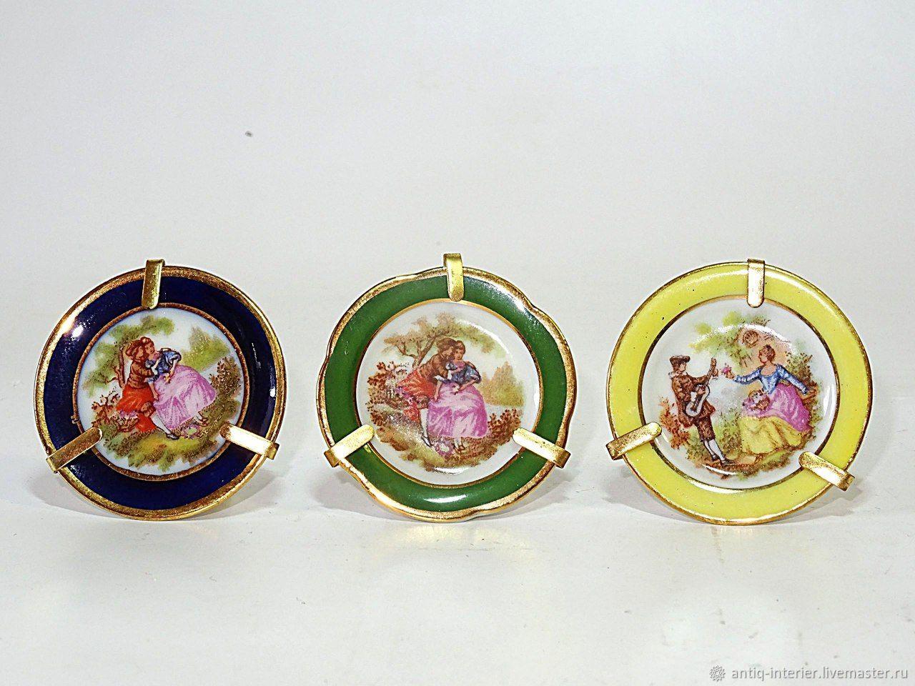 Limoges miniature plates, Vintage interior, Kaliningrad,  Фото №1