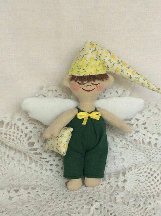 Сказочные персонажи ручной работы. Ярмарка Мастеров - ручная работа. Купить Ангел хорошего сна. Handmade. Бежевый, ангел сна