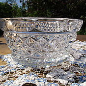 Винтаж handmade. Livemaster - original item The candy bowl vase crystal. Handmade.