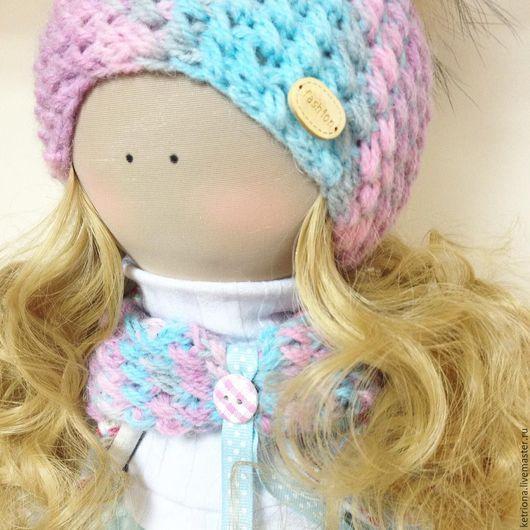 Милое маленькое создание! Интерьерная Текстильная Кукла будет рада обрести новый дом и добрую ласковую мамочку! Текстильная интерьерная кукла