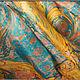 Шали, палантины ручной работы. Заказать Шелковый платок, выполненный в технике Эбру (рисунки на воде). Ann Iva (ebru). Ярмарка Мастеров.