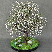 handmade. Livemaster - original item Tree of pearls and chrysolite