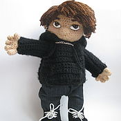 Куклы и игрушки handmade. Livemaster - original item Knitted doll Rock musician gift for a friend. Handmade.