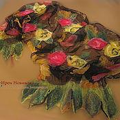 """Палантины ручной работы. Ярмарка Мастеров - ручная работа Палантин """" Розовый сад"""". Handmade."""