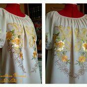 Blouses handmade. Livemaster - original item Women`s embroidery ZhR4-004. Handmade.