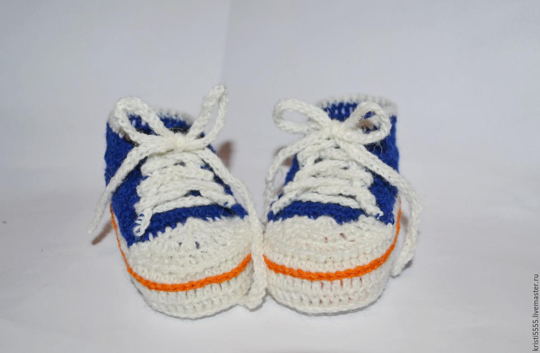 Вязание крючком для малышей кеды
