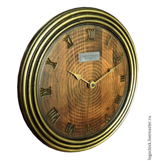 Часы для дома ручной работы. Ярмарка Мастеров - ручная работа. Купить Настенные часы. Бук. Старое золото. Пять.. Handmade.
