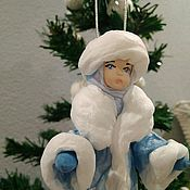 Куклы и игрушки ручной работы. Ярмарка Мастеров - ручная работа Ватная ёлочная игрушка Снегурочка.. Handmade.