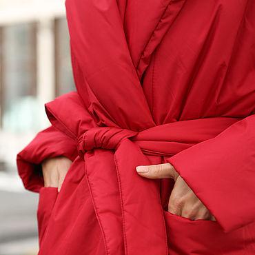 Одежда ручной работы. Ярмарка Мастеров - ручная работа Пуховик-одеяло с шалевым воротником. Handmade.