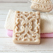 Косметика ручной работы handmade. Livemaster - original item Economic natural soap with ornament for dry skin of hands. Handmade.