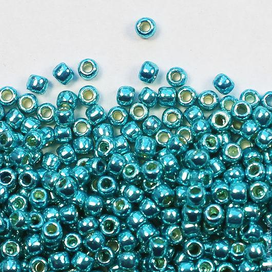 Для украшений ручной работы. Ярмарка Мастеров - ручная работа. Купить Круглый 11/0 TOHO PF569 Turquoise Galvanized Permanent Finish бисер. Handmade.