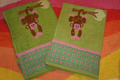 Новый год 2016 ручной работы. Ярмарка Мастеров - ручная работа. Купить Махровое полотенце с обезьянкой. Handmade. Зеленый, год обезьяны