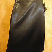 Одежда handmade. Livemaster - original item The brown skirt made of stretch satin dark Chocolate. Handmade.