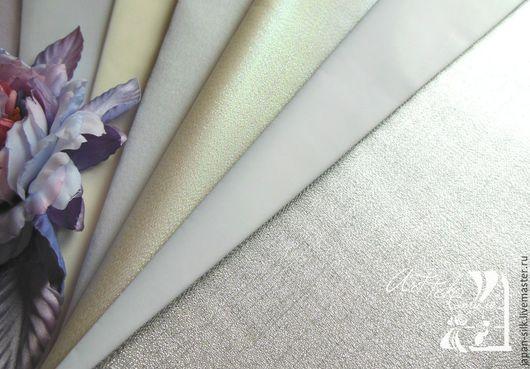 Ткань для цветов ручной работы. Ярмарка Мастеров - ручная работа. Купить Усукиню св./тем. зеленый, черный. Handmade. Усукиню