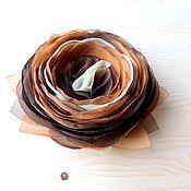 """Украшения ручной работы. Ярмарка Мастеров - ручная работа Брошь, заколка , цветок """" Шоколадная роза"""". Handmade."""