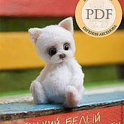Материалы для творчества ручной работы. Ярмарка Мастеров - ручная работа PDF Мастер-класс. Маленький белый щенок.. Handmade.