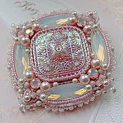 """Украшения handmade. Livemaster - original item Brooch """"Aurora"""" with Swarovski pearls and crystals. Handmade."""