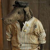 Куклы и игрушки handmade. Livemaster - original item Dog Nicanor. Butcher. Handmade.
