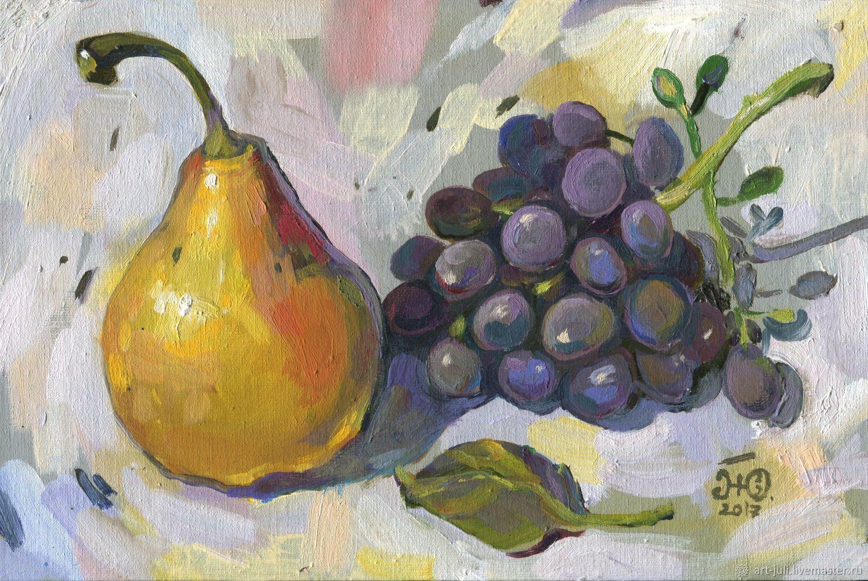 Груша и виноград, Натюрморт, Москва, Фото №1