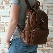 Рюкзаки ручной работы. Ярмарка Мастеров - ручная работа Стильный кожаный рюкзак. Индивидуальный пошив. Handmade.