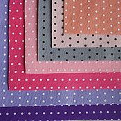 Материалы для творчества ручной работы. Ярмарка Мастеров - ручная работа Фетр в горошек набор 19 цветов. Handmade.