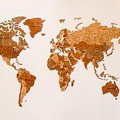 Дизайн и реклама handmade. Livemaster - original item World map World Map True Puzzle Exclusive edition 150 x 90. Handmade.