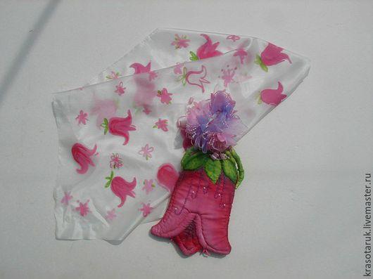 Женские сумки ручной работы. Ярмарка Мастеров - ручная работа. Купить детская сумочка и шарфик. Handmade. Бледно-розовый