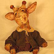 Куклы и игрушки ручной работы. Ярмарка Мастеров - ручная работа Жираф плюшевый. Handmade.