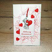 """Открытки ручной работы. Ярмарка Мастеров - ручная работа Открытка """"С любовью!"""" ко Дню воспитателя. Handmade."""