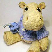 Куклы и игрушки ручной работы. Ярмарка Мастеров - ручная работа Бегемотик Тоша. Handmade.