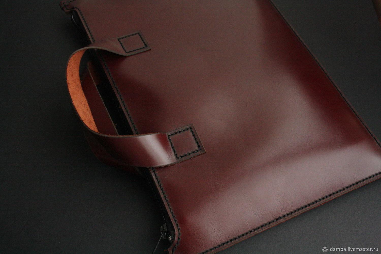 Папка портфель DAMBA красно коричневого цвета