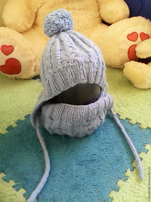 Для подростков, ручной работы. Ярмарка Мастеров - ручная работа. Купить Весенне-осенний комплект шапка+ снуд. Handmade.