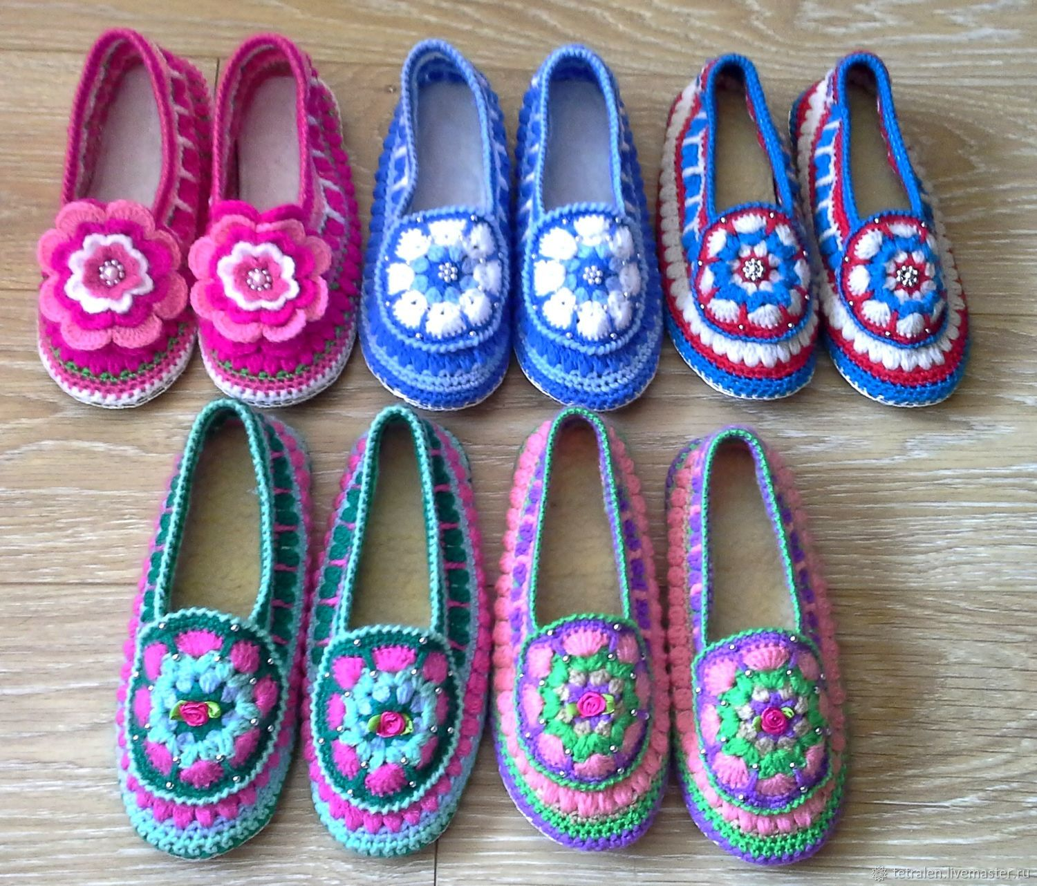 b6790152f02e52 Handmade Shoes handmade. Knitted Slippers Thumbelina. Knitted stuff from  Svetlana. My Livemaster.