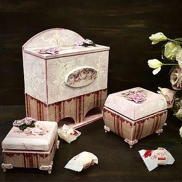 Для дома и интерьера ручной работы. Ярмарка Мастеров - ручная работа Чайный набор Шебби. Handmade.