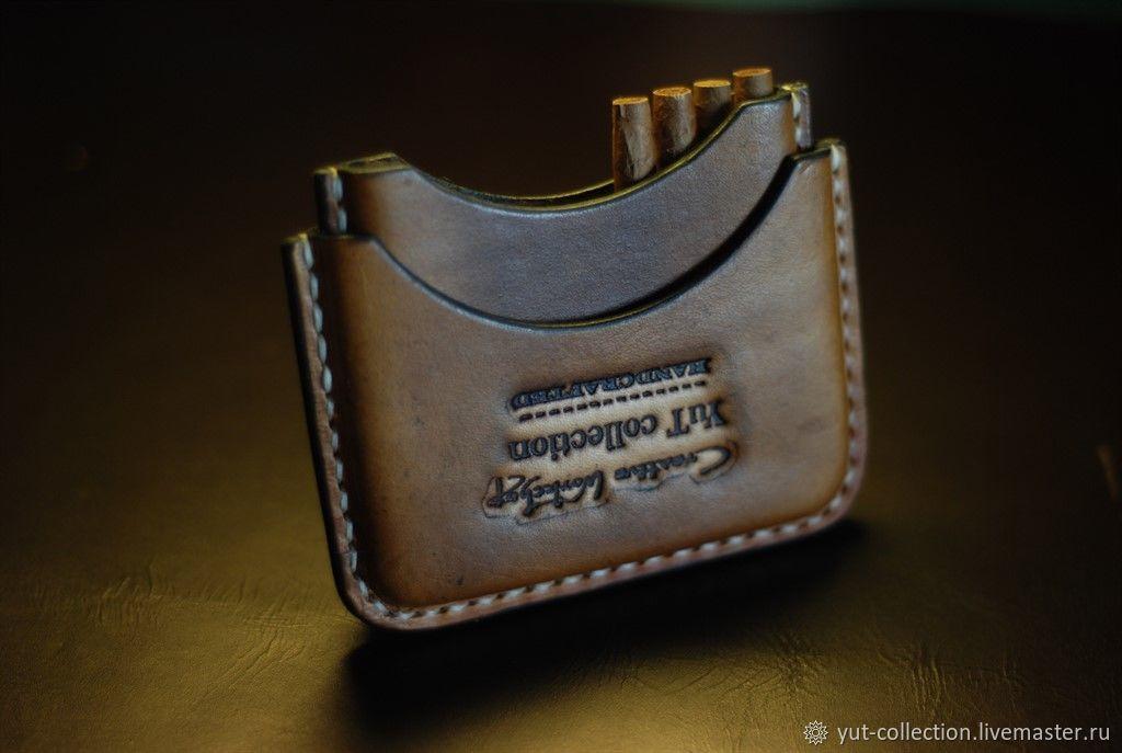 """Кожаный портсигар для сигарилл """"Cafe Creme"""", Чехол, Ивано-Франковск,  Фото №1"""