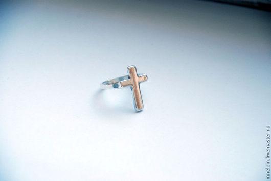 """Кольца ручной работы. Ярмарка Мастеров - ручная работа. Купить Серебряное кольцо """"Крест"""". Handmade. Серебряный, серебро, серебро 925"""